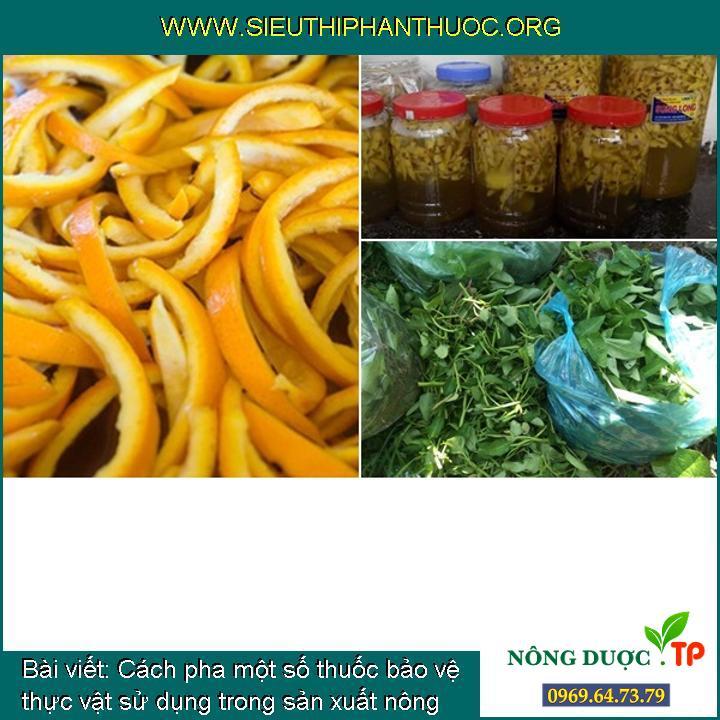 Cách pha một số thuốc bảo vệ thực vật sử dụng trong sản xuất nông nghiệp hữu cơ