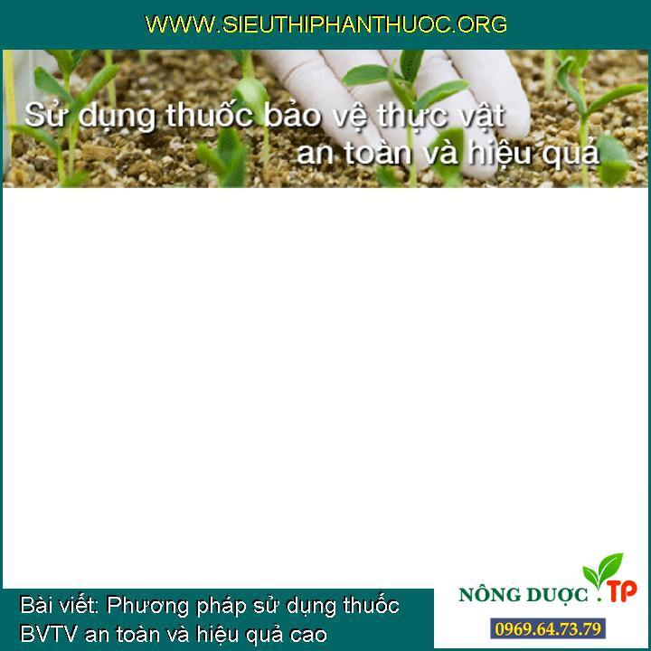 Phương pháp sử dụng thuốc BVTV an toàn và hiệu quả cao