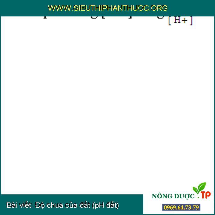 Độ chua của đất (pH đất)
