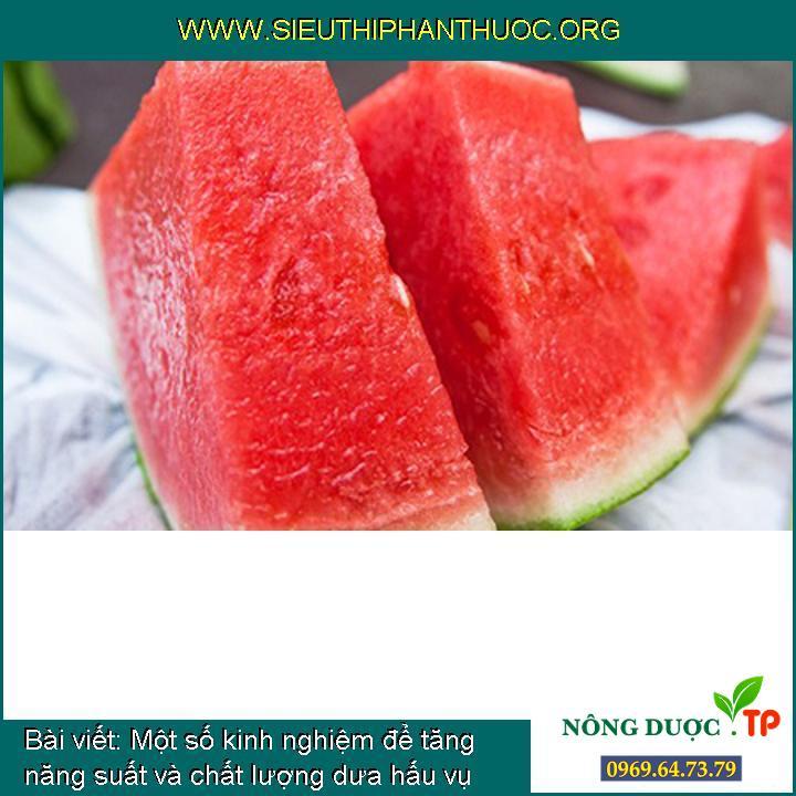 Những điều cần lưu ý khi ăn dưa hấu